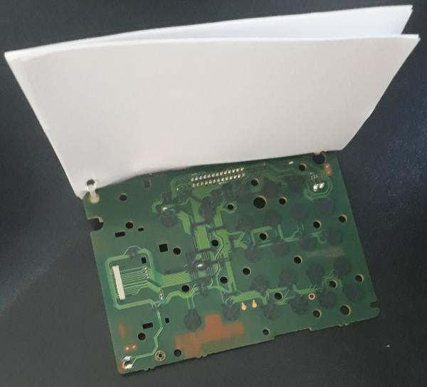 pad made from PCB and scratch paper